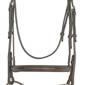 Elite Collection- Fancy Raised Traditional Crown Padded Bridle with Raised Fancy Laced Reins