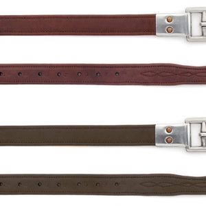 Covered Stirrup Leathers with Metal Clasp