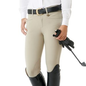 Celebrity EuroWeave™ DX Euro Seat Front Zip Knee Patch Breeches – Child's