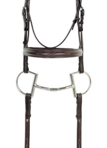 Classic Collection- Fancy Raised Comfort Crown Padded Bridle with Fancy Raised Laced Reins