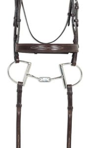 Classic Collection- Fancy Raised Comfort Crown Wide Noseband Bridle with Fancy Raised Laced Reins