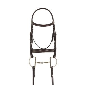 Breed Plain Raised Padded Bridle- Draft Cross