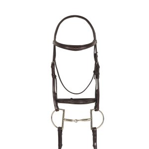 Breed Fancy Stitched Raised Padded Bridle- Draft Cross
