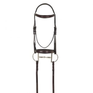 ATS Square Raised Taper Nose Fancy Stitch Bridle