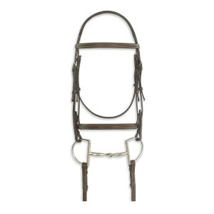 Classic Colleciton- Plain Raised Comfort Crown Padded Bridle with Laced Reins