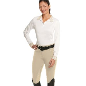Destiny Super-X Paisley GRIP Knee Patch Breech- Ladies'