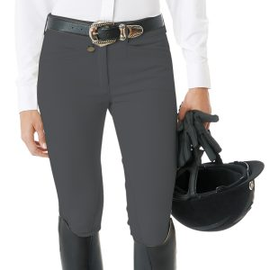 Celebrity Slim Secret EuroWeave™ DX Euro Seat Front Zip Knee Patch Breeches –  Ladies'