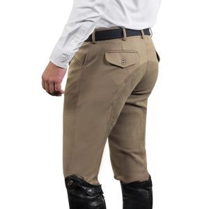 EuroWeave™ DX® 4-Pocket Front Zip Full Seat Breeches – Men's