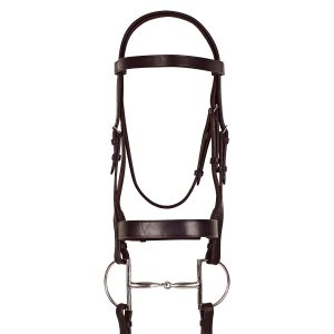 Classic Wide Hunt Bridle with Laced Reins