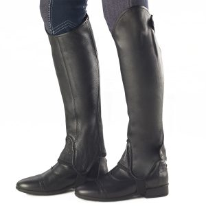 Precise Fit Leather Half Chaps – Ladies'