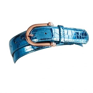 Ovation® Ladies' Rose Gold Buckle Metallic Belt