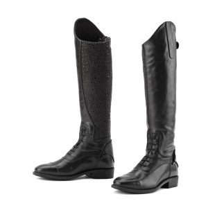 Sofia Grip Black Field Boot- Ladies'